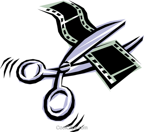 Cool scissors Royalty Free Vector Clip Art illustration arts0051