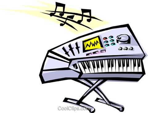 Cool keyboard Royalty Free Vector Clip Art illustration arts0057