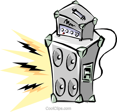 Cool amplifier Royalty Free Vector Clip Art illustration arts0058