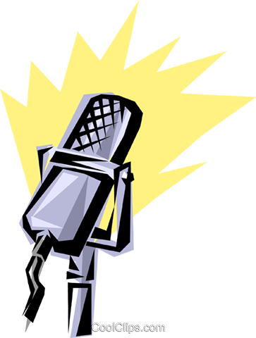 Cool microphone Royalty Free Vector Clip Art illustration arts0059