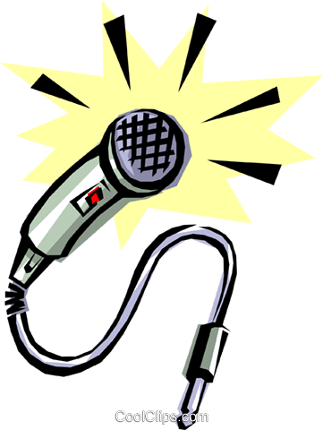 Cool microphone Royalty Free Vector Clip Art illustration arts0060