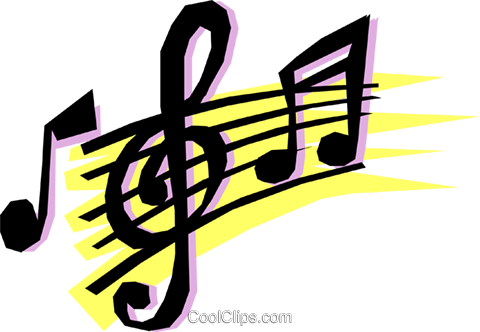 Musical notes Royalty Free Vector Clip Art illustration arts0062