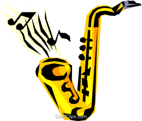 Saxophones Royalty Free Vector Clip Art illustration arts0065