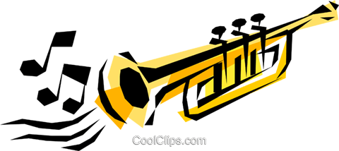 Trumpet Royalty Free Vector Clip Art illustration arts0067