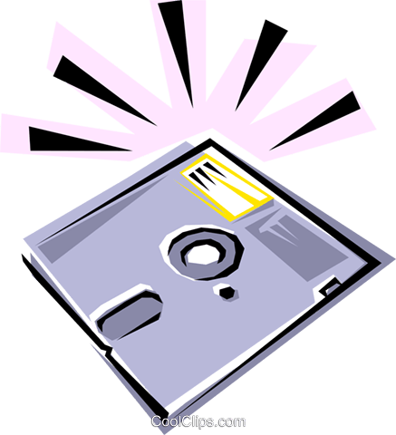 Diskette Royalty Free Vector Clip Art illustration busi0048