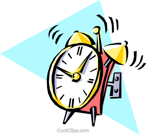 Cool alarm clock Royalty Free Vector Clip Art illustration busi0053