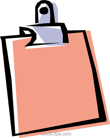 Cool clipboard Royalty Free Vector Clip Art illustration busi0055