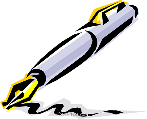Cool pen Royalty Free Vector Clip Art illustration busi0056
