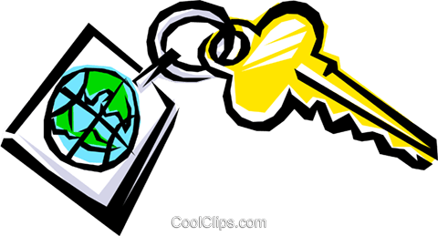Cool key Royalty Free Vector Clip Art illustration busi0059
