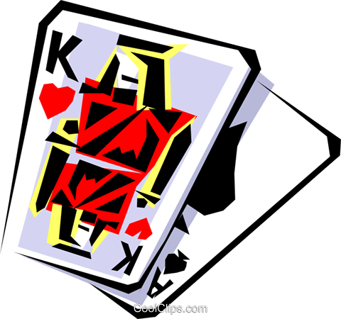 Cool playing card Royalty Free Vector Clip Art illustration busi0060