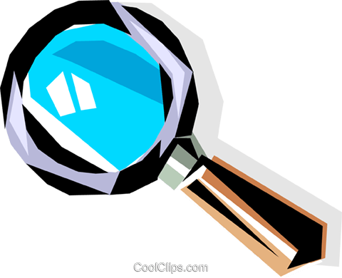 Cool magnifying glass Royalty Free Vector Clip Art illustration busi0061
