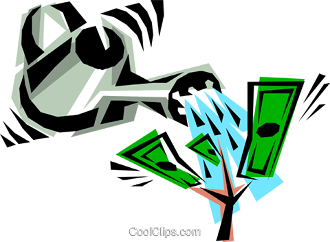 Cool money tree Royalty Free Vector Clip Art illustration busi0064