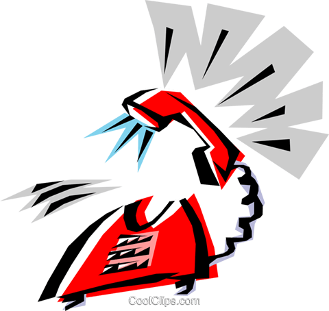 Cool phone Royalty Free Vector Clip Art illustration busi0067