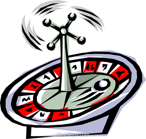 Roulette wheel Royalty Free Vector Clip Art illustration busi0068