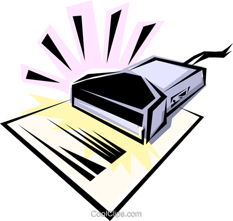 Scanner Royalty Free Vector Clip Art illustration busi0069