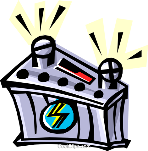 12 volt battery Royalty Free Vector Clip Art illustration envi0012