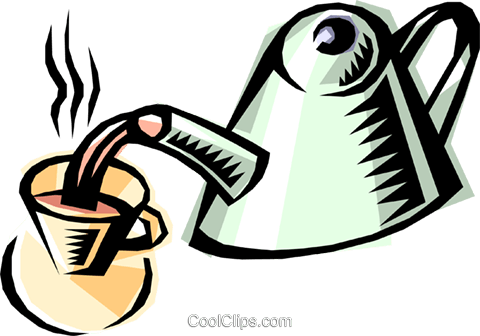 Teapot Royalty Free Vector Clip Art illustration food0294
