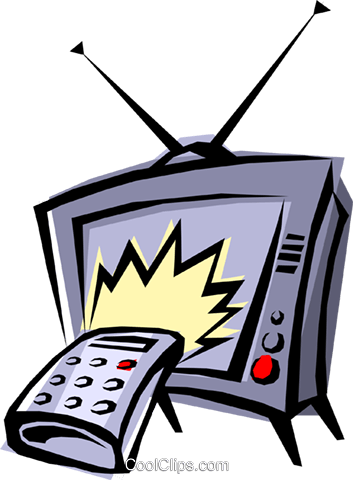 Television Royalty Free Vector Clip Art illustration hous0194