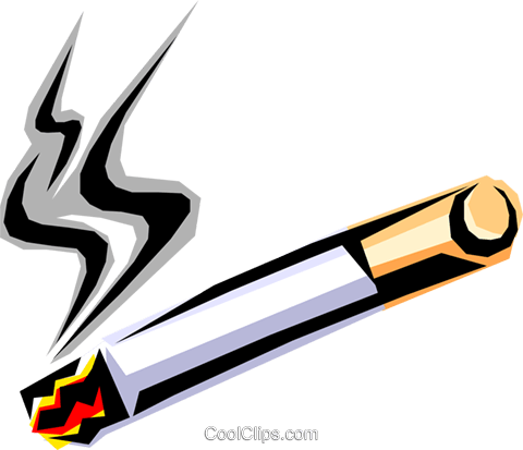 depiction of a cigarette Royalty Free Vector Clip Art illustration hous0732