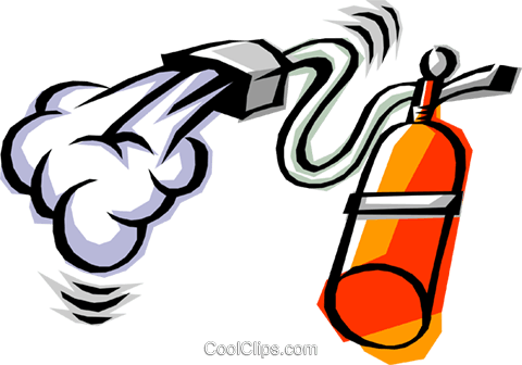 Cool fire extinguisher Royalty Free Vector Clip Art illustration indu0313