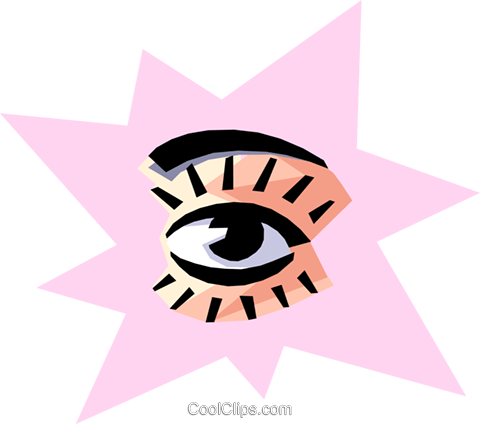 Cool eye Royalty Free Vector Clip Art illustration medi0118