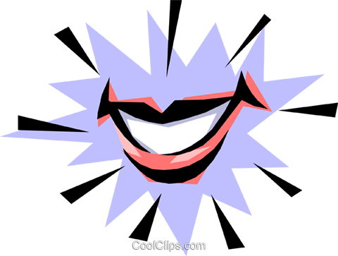Smile Royalty Free Vector Clip Art illustration medi0133