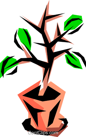 Potted plant Royalty Free Vector Clip Art illustration natu0157