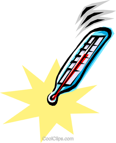 depiction of a thermometer Royalty Free Vector Clip Art illustration natu0161