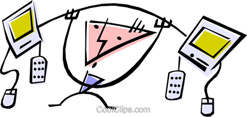 Cool technology guy Royalty Free Vector Clip Art illustration peop1188
