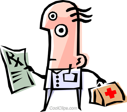 Cool doctor Royalty Free Vector Clip Art illustration peop1190