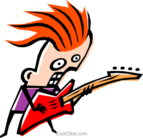 Cool musician Royalty Free Vector Clip Art illustration peop1193