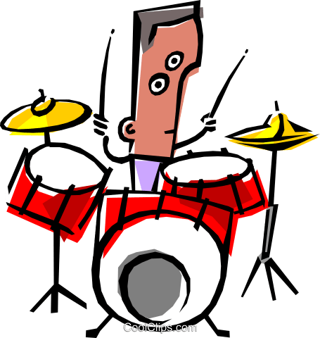 Cool musician Royalty Free Vector Clip Art illustration peop1201