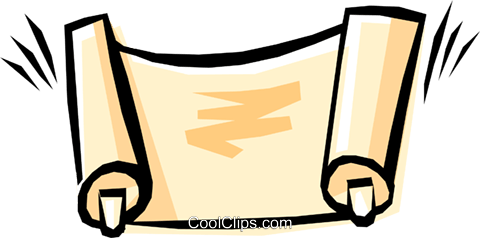 Cool scrolls Royalty Free Vector Clip Art illustration reli0034