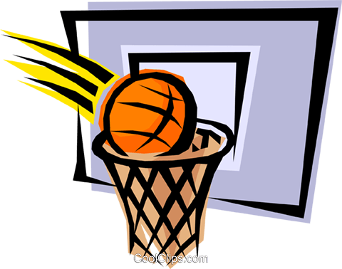Basketball net Royalty Free Vector Clip Art illustration spor0069