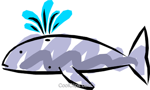 Cool whale Royalty Free Vector Clip Art illustration anim0520