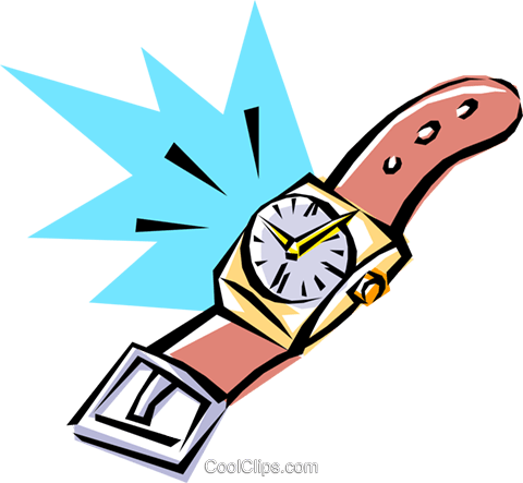 Cool watch Royalty Free Vector Clip Art illustration busi0074
