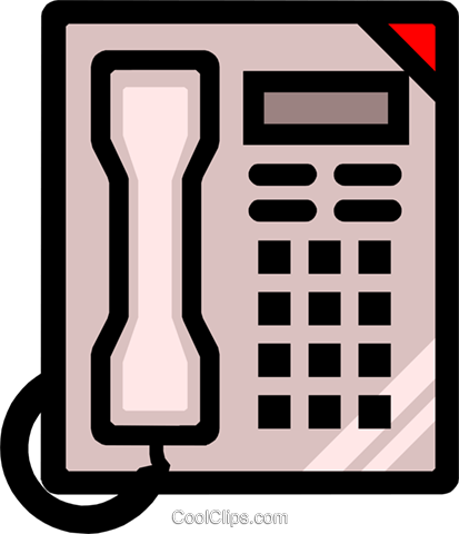 Symbol of a telephone Royalty Free Vector Clip Art illustration busi0429