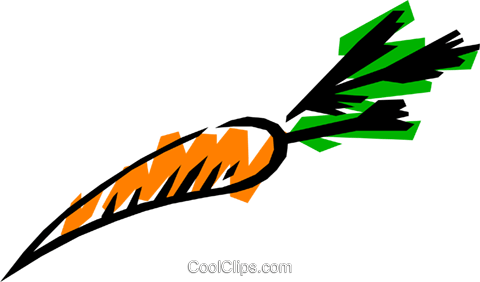 Carrots Royalty Free Vector Clip Art illustration food0007