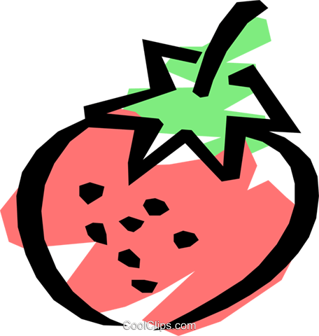 Strawberries Royalty Free Vector Clip Art illustration food0023