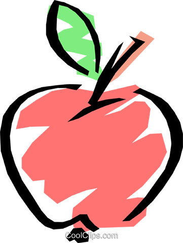 Cool apple Royalty Free Vector Clip Art illustration food0027