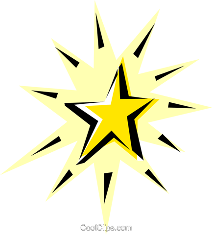 Shooting stars Royalty Free Vector Clip Art illustration natu0162
