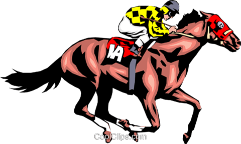 Race horse Royalty Free Vector Clip Art illustration peop1281
