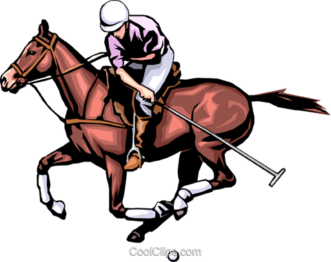 Polo player Royalty Free Vector Clip Art illustration peop1282