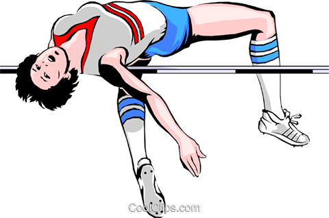 High jumper Royalty Free Vector Clip Art illustration peop1289