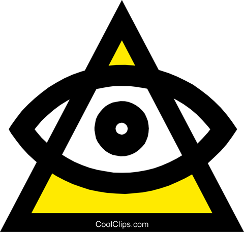 Symbol of all seeing eye Royalty Free Vector Clip Art illustration reli0060