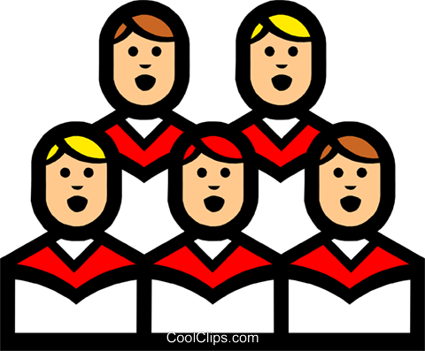 Symbol of a church choir Royalty Free Vector Clip Art illustration reli0069