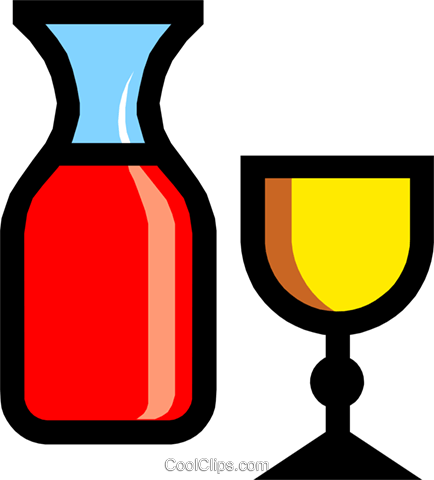 Symbol of wine and chalice Royalty Free Vector Clip Art illustration reli0077