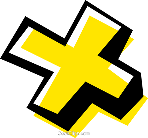 multiplication sign royalty free vector clip art