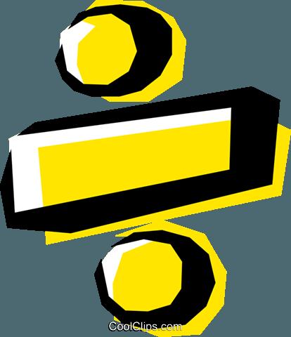 Math Symbols Divide Royalty Free Vector Clip Art Illustration