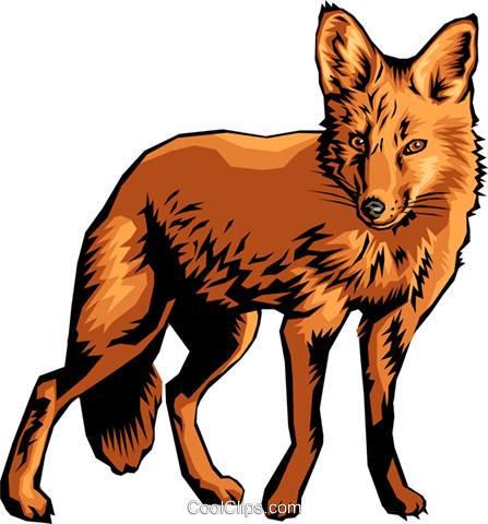 Fox Royalty Free Vector Clip Art illustration anim0014